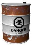 Tambor com veneno Fotos de Stock