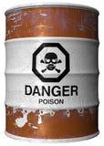 Tambor com veneno Imagem de Stock