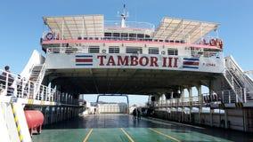 Tambor 3. Costa Rica ferry  travel sea  ship Punta arenas Royalty Free Stock Photography