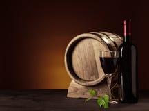 Tambor da garrafa, do vidro e do carvalho Imagens de Stock Royalty Free