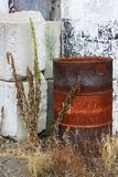 Tambor de óleo oxidado Fotos de Stock