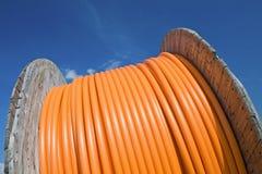 Tambor de cable. Foto de archivo