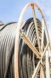 Tambor de cable Foto de archivo libre de regalías