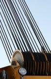 Tambor de cable de la grúa del primer Fotografía de archivo