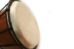 Tambor de Djembe con el espacio de la copia Foto de archivo