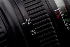 Tambor de focalização do anel e de lente da câmera Fotos de Stock Royalty Free