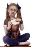 Tambor de la niña Imagen de archivo libre de regalías
