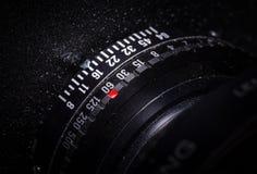 Tambor de lente da câmera de vista com seleção da exposição Foto de Stock Royalty Free