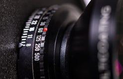 Tambor de lente da câmera de vista com seleção da exposição Imagens de Stock Royalty Free