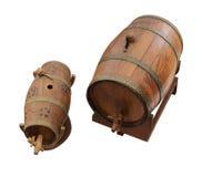 Tambor de madeira da lembrança para o vinho Imagem de Stock Royalty Free