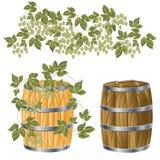 Tambor de madeira de Foto de Stock Royalty Free