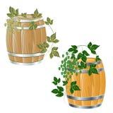 Tambor de madeira de Fotografia de Stock