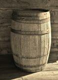 Tambor de madeira do armazenamento no Sepia-tom imagem de stock royalty free