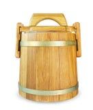 Tambor de madeira do carvalho Imagens de Stock Royalty Free