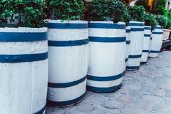 Tambor de madeira do carvalho fora fotos de stock royalty free