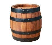 Tambor de madeira do carvalho isolado no fundo branco foto de stock