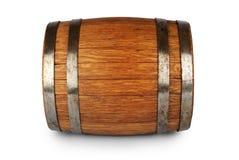 Tambor de madeira do carvalho no fundo branco Foto de Stock