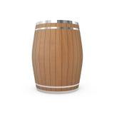 Tambor de madeira velho isolado no branco Imagens de Stock Royalty Free