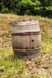 Tambor de madeira velho para o vinho Foto de Stock Royalty Free