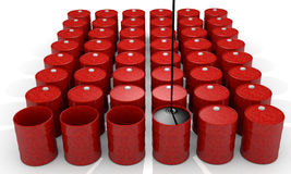 Tambor de petróleo imagens de stock