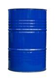 Tambor de petróleo azul foto de stock