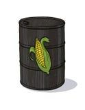 Tambor de petróleo com milho Imagem de Stock Royalty Free