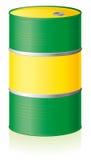Tambor de petróleo isolado Foto de Stock Royalty Free