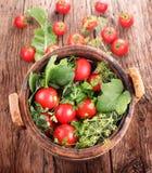 Tambor de tomates conservados foto de stock royalty free