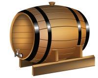 Tambor de vinho ilustração royalty free