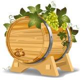 Tambor de vinho ilustração stock