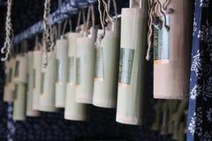 Tambor de vinho de bambu imagem de stock