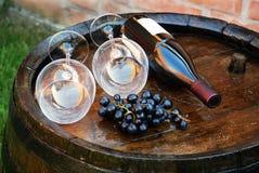 Tambor de vinho de madeira Imagens de Stock Royalty Free