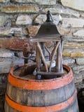 Tambor de vinho velho Imagens de Stock