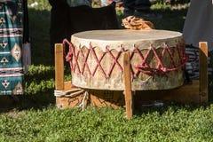 Tambor del nativo americano Imagen de archivo libre de regalías