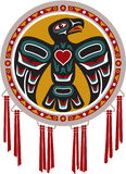 Tambor del nativo americano con el águila Fotografía de archivo libre de regalías