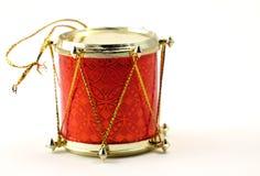 Tambor del ornamento de la Navidad Imagenes de archivo