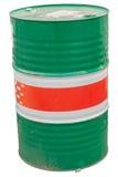 Tambor do cilindro de óleo do galão isolado em Backgroun branco Fotografia de Stock Royalty Free