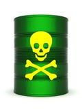Tambor do desperdício tóxico ilustração stock