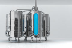 Tambor do metal para finalidades industriais Capacidade para a produção e o armazenamento Ilustração 3d ilustração do vetor