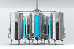 Tambor do metal para finalidades industriais Capacidade para a produção e o armazenamento Ilustração 3d ilustração stock