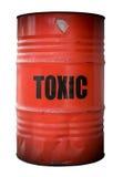 Tambor dos resíduos tóxicos Imagem de Stock