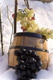 Tambor e uvas imagem de stock