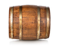 Tambor feito da madeira Fotografia de Stock