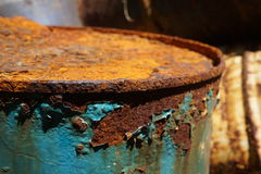 Tambor oxidado Imágenes de archivo libres de regalías