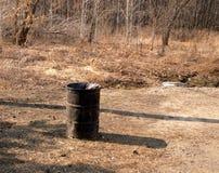 Tambor para a recolha de lixo Fotografia de Stock