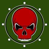 Tambor rojo del cráneo del vector Fotografía de archivo