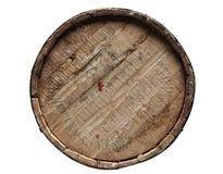 Tambor Textured de madeira e do ferro da cervejaria - trajeto de grampeamento Foto de Stock
