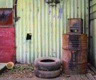 Tambor velho do metal Imagem de Stock