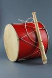 Tambor y flauta Foto de archivo libre de regalías