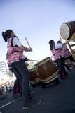 Tambores 15 de Taiko Fotos de archivo libres de regalías